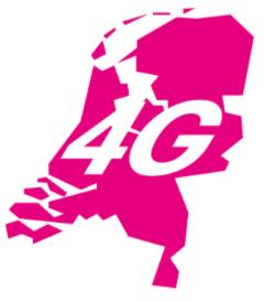 4G dekking T-Mobile Nederland dekkingskaart